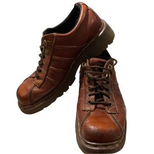 Dr Martens Style 9764 Brown Brogue Lace Up Shoes Size 8